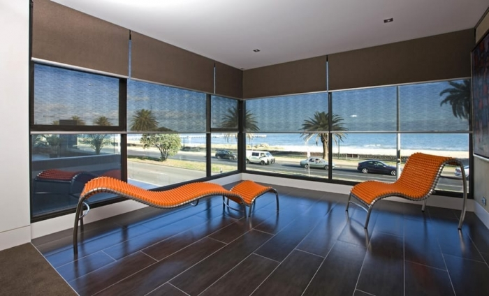 double roller textured blinds