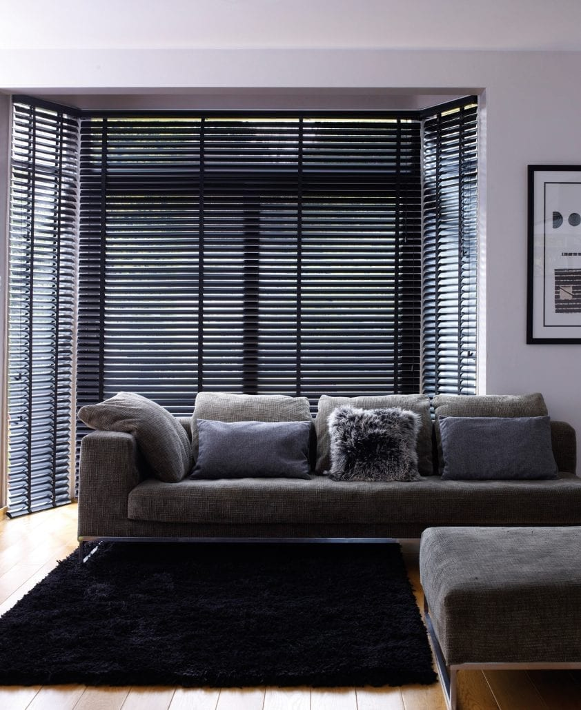 dark wooden blinds